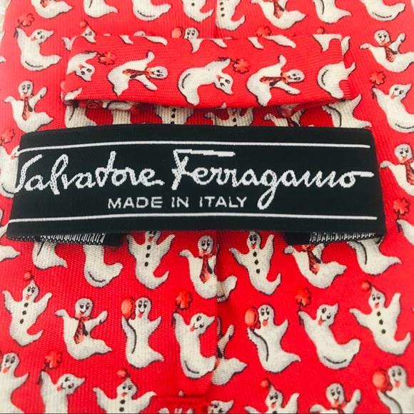 Salvatore Ferragamo Other - Salvatore Ferragamo Silk Tie: Halloween Ghosts